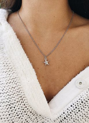 Casual Star No Stone Pendant Necklaces (4663270)