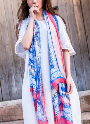 Cotton Color Block Scarves