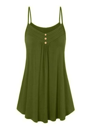 Casual Solid Slip Camisole Neckline A-line Dress (4037922)