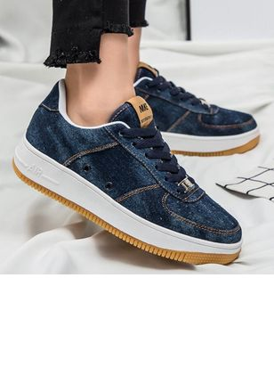 Denim Shoes With Lace-up (6046914)