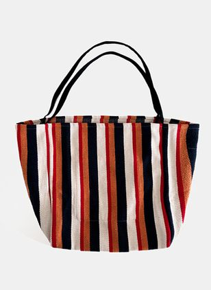 Tote Color Block Double Handle Bags (100772029)