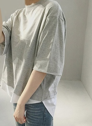 Polyester Solid Round Neck Half Sleeve Casual T-shirts