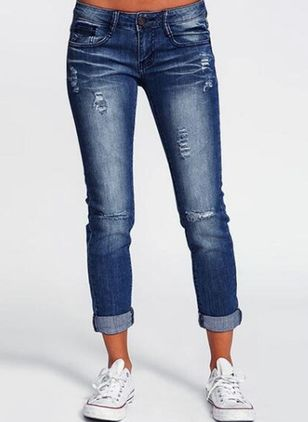 Casual Skinny Low Waist Denim Jeans (1532537)