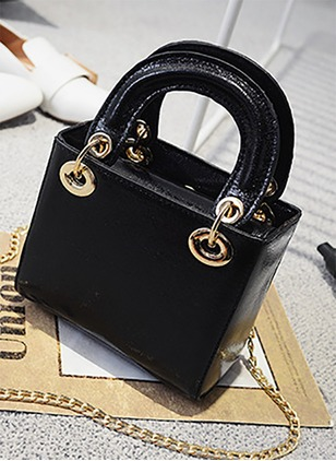Shoulder Totes Fashion PU Chain Bags