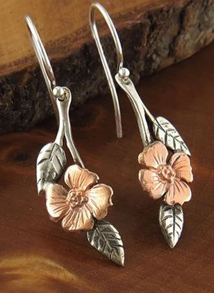 Vintage Floral No Stone Dangle Earrings (147036489)