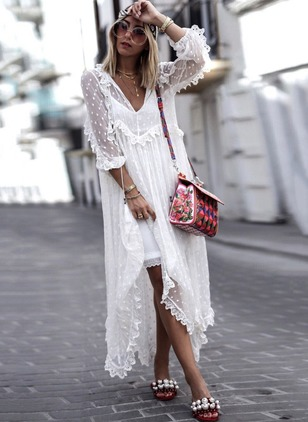 Solid Tassel Tank V-Neckline Shift Dress