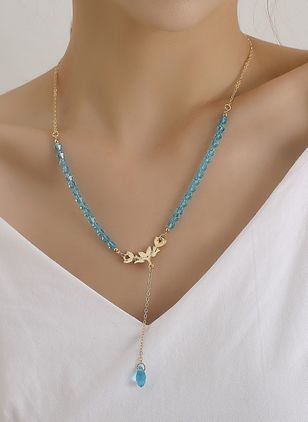 Elegant Animal Crystal Pendant Necklaces (106586679)