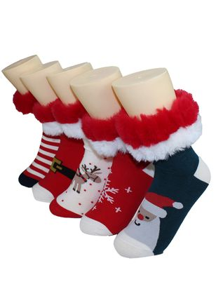 Women's Christmas Velvet Cotton Socks & Hosiery Crew Socks Socks (111853060)