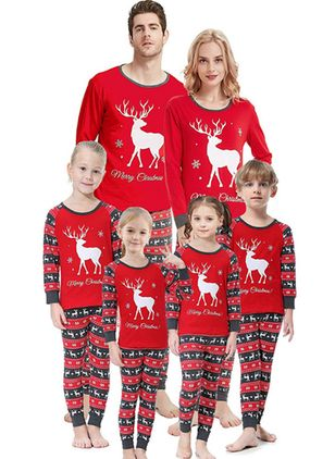 Family Look Animal Christmas Long Sleeve Family Outfits (119993056)