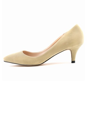 Women's Pumps Closed Toe Heels Low Heel Suede Shoes (1009211)