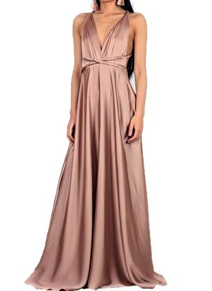 Solid Sleeveless Maxi A-line Dress