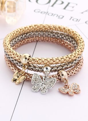 Casual Animal No Stone Bangle Bracelets (6211659)