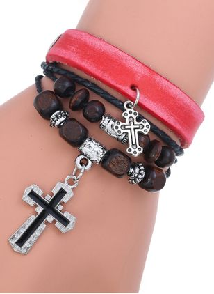 Vintage Ball Cross No Stone Link Bracelets (111608082)