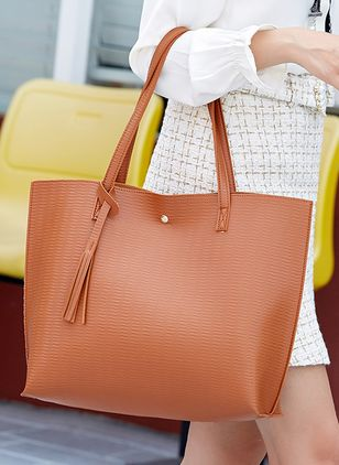 Tote Fashion Tassel Double Handle Bags (1525009)