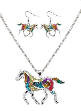 Animal No Stone Necklace Earring Jewelry Sets (146737643)