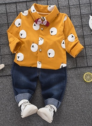 Boys' Cartoon Going out Long Sleeve Clothing Sets