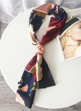 Polyester Color Block Scarves