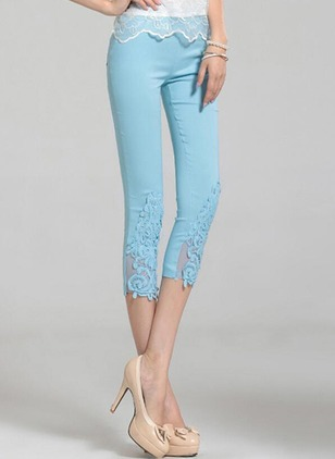 Skinny Cotton Blends Pants Pants & Leggings