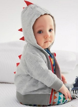 Boys' Casual Cartoon Hooded Coats