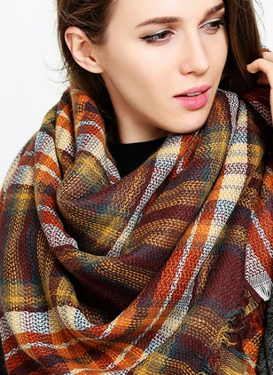 Rayon Check Scarves