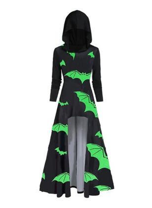 Halloween Animal Round Neckline Maxi X-line Dress (111852565)
