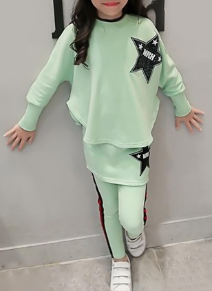 Girls' Casual Print Daily Long Sleeve Clothing Sets