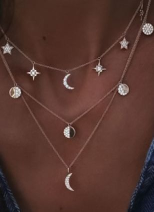 Ball Moon Crystal Pendant Necklaces
