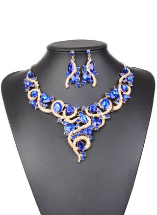 Ball Gemstone Necklace Jewelry Sets (1348229)