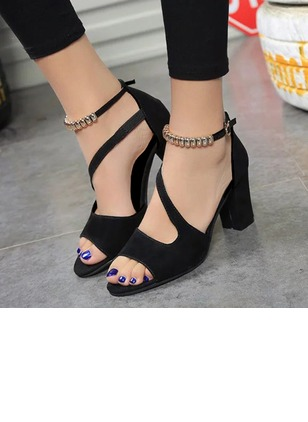 Ankle Strap Heels Chunky Heel Shoes (1176654)