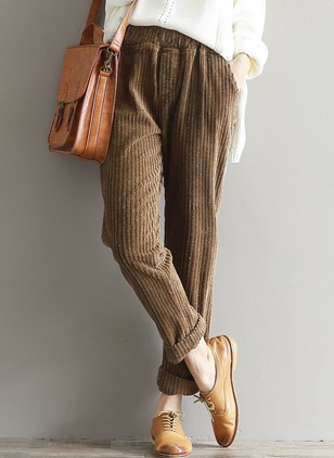 Loose Corduroy Pants Pants & Leggings