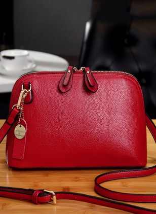 Shoulder Fashion Real Leather Zipper Adjustable Bags