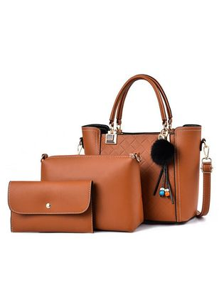 Bag Sets Fashion Zipper Double Handle Bags (147089719)