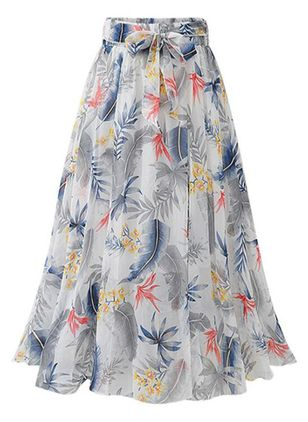 Floral Maxi Casual Skirts (1510461)