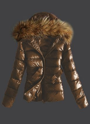 Long Sleeve Hooded Sashes Zipper Removable Fur Collar Padded Coats