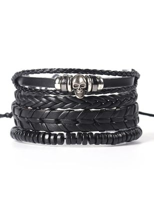 Casual Round No Stone Bangle Bracelets (6211650)