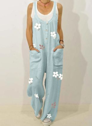 Women's Straight Pants Jumpsuits (4040404)