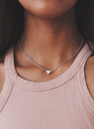 Heart No Stone Without Pendant Necklaces