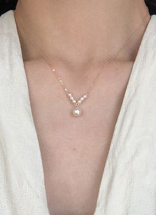Elegant Ball Pearls Pendant Necklaces (106586705)