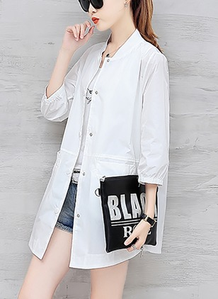 Polyester 3/4 Sleeves Collarless Appliques Jackets