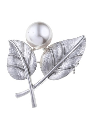 Single Ball Pearls Brooches