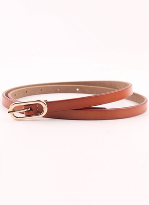 Cute PU Solid Belts