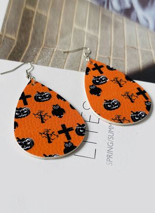 Halloween Water Drop No Stone Dangle Earrings (107805815)