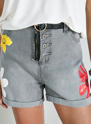 Women's Skinny Pants Shorts (1499072)