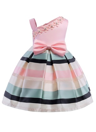 Girls' Color Block Party Sleeveless Dresses