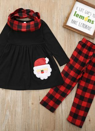 Girls' Christmas Character Daily Long Sleeve Clothing Sets (118208052)