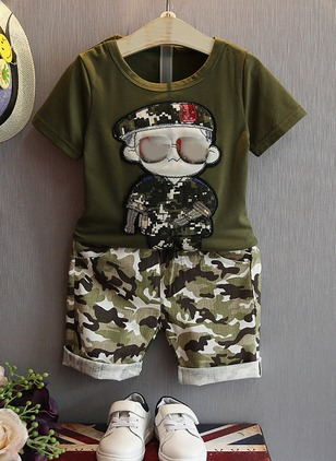 Boys' Character Daily Short Sleeve Clothing Sets