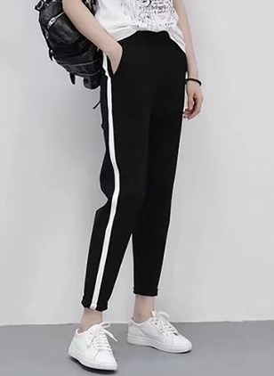 Loose Cotton Blends Trousers Pants & Leggings