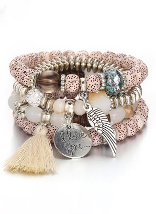 Casual Tassel No Stone Beaded Bracelets (6211658)