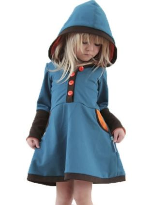 Girls' Casual Color Block Daily Long Sleeve Dresses