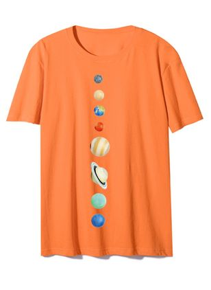 Geometric Round Neck Short Sleeve Casual T-shirts (4229043)
